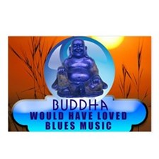 Buddha Blues Postcards (Package of 8)
