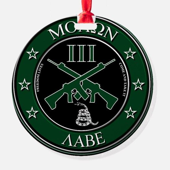 Come and Take It Crossed Rifles Ornament