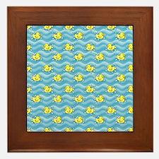 Rubber Ducks Framed Tile