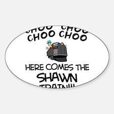 Shawn Train Oval Decal