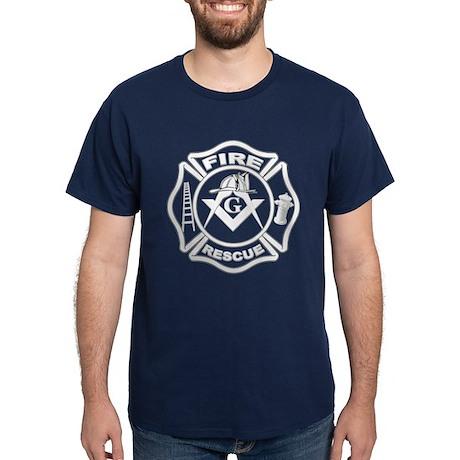 Fire and Rescue Mason in white Dark T-Shirt