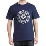 Fire and Rescue Mason in white Dark T-Shirt