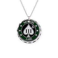Three Percent Spade - Green Necklace