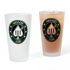 Three Percent Spade - Green Drinking Glass