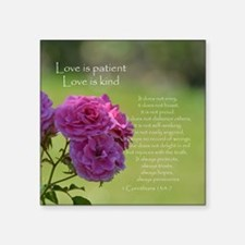 """Love is Patient Roses Square Sticker 3"""" x 3"""""""
