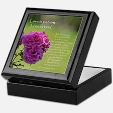Love is Patient Roses Keepsake Box