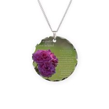 Love is Patient Roses Necklace