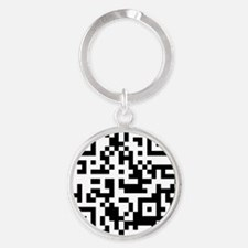 OFFICIAL 2T QR code Round Keychain