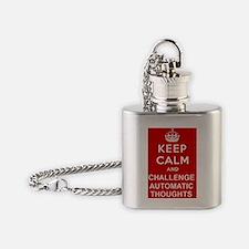 Keep Calm CBT Flask Necklace