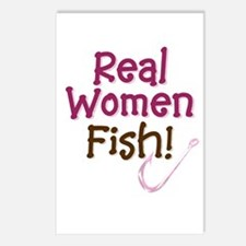 Real Women Fish Postcards (Package of 8)