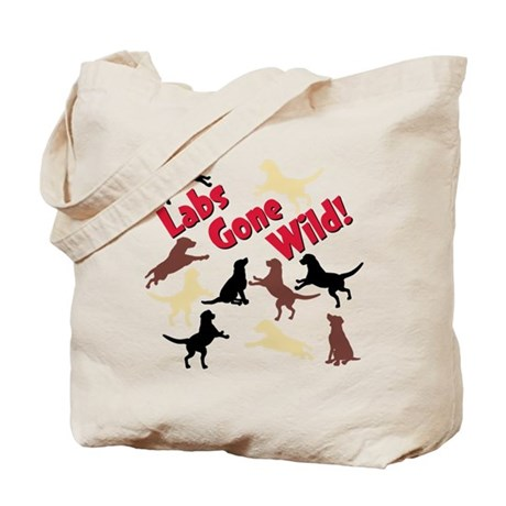 Labs Gone Wild - Tote Bag