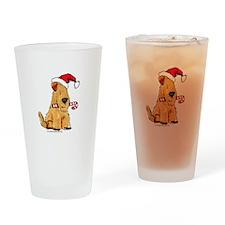 Wheaten Holiday Joy Drinking Glass
