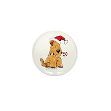 Wheaten Holiday Joy Mini Button (10 pack)