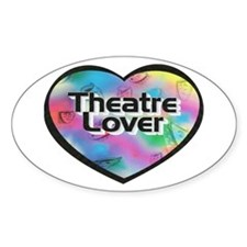 Theatre Lover Oval Decal