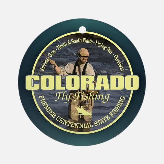 Colorado Fly Fishing Round Ornament