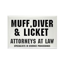 MUFF, DIVER  LICKET - ATTORNEYS A Rectangle Magnet