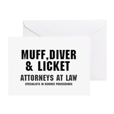MUFF, DIVER  LICKET - ATTORNEYS AT L Greeting Card