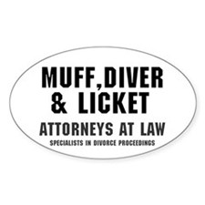 MUFF, DIVER  LICKET - ATTORNEYS AT  Decal