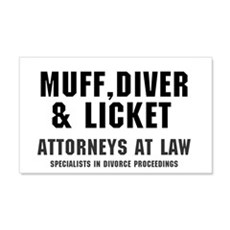 MUFF, DIVER  LICKET - ATTORNEYS A Wall Decal