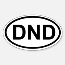 DND Oval Bumper Stickers