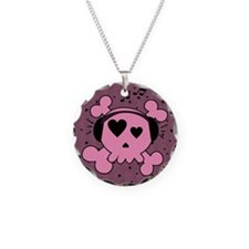 ms_Round Compact Mirror Necklace