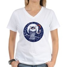 Blue Owl with Moon Shirt