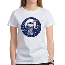 Blue Owl with Moon Tee