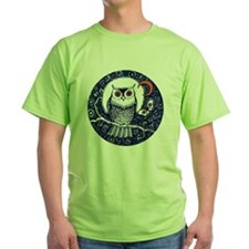 Blue Owl with Moon T-Shirt