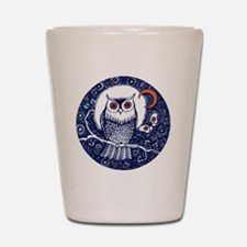 Blue Owl with Moon Shot Glass