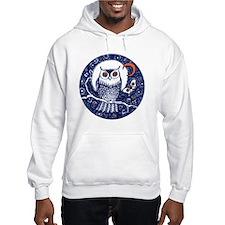Blue Owl with Moon Hoodie