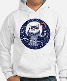 Blue Owl with Moon Jumper Hoody