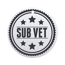 Sub Vet Badge Round Ornament