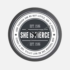 She is Fierce Badge Wall Clock