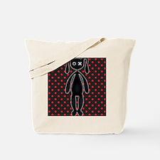 Harajuku Polka Dot Bunny in Red and Black Tote Bag