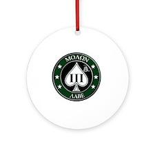 Come and Take It (Green/White Spade Round Ornament