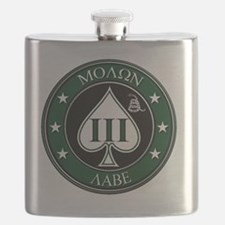 Come and Take It (Green/White Spade) Flask