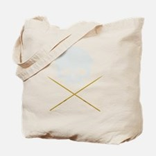 Skull with Drum Sticks Tote Bag