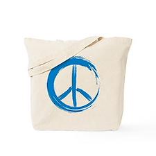PEACE paint brush stroke peace Tote Bag