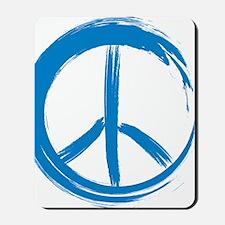 PEACE paint brush stroke peace Mousepad