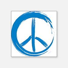 """PEACE paint brush stroke pe Square Sticker 3"""" x 3"""""""