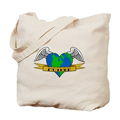 Earth Day Tattoo Style Tote Bag