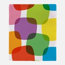 Colorful Retro Pattern Throw Blanket