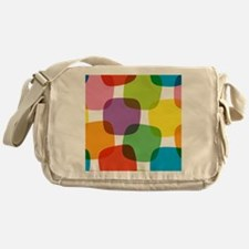 Colorful Retro Pattern Messenger Bag