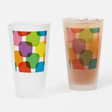 Colorful Retro Pattern Drinking Glass