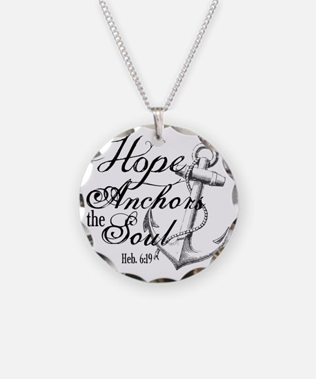 Hope Anchors the Soul Heb. 6 Necklace