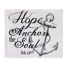 Hope Anchors the Soul Heb. 6:19 Throw Blanket