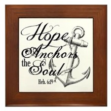 Hope Anchors the Soul Heb. 6:19 Framed Tile