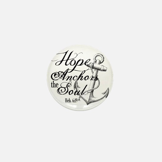 Hope Anchors the Soul Heb. 6:19 Mini Button