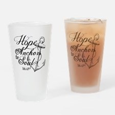Hope Anchors the Soul Heb. 6:19 Drinking Glass