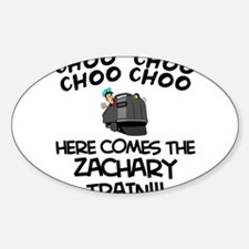 Zachary Train Oval Decal